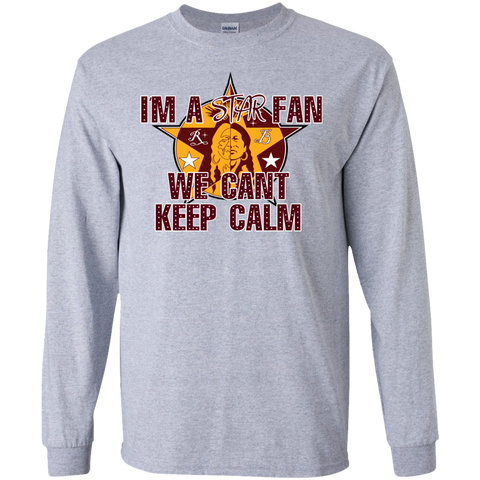 A6 - Rocky Boy Star Fan Can't Keep Calm Gildan LS Ultra Cotton T-Shirt