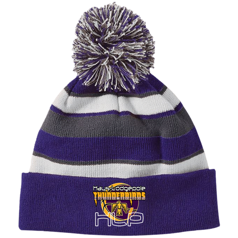 Hays LP Holloway Striped Beanie with Pom