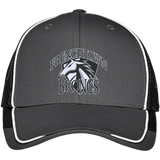 Frenchtown Broncs Port Authority Colorblock Mesh Back Cap