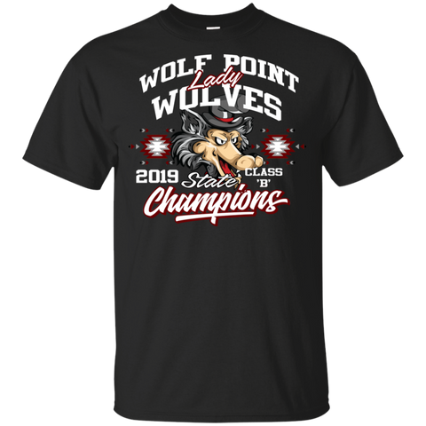 Wolf Point Lady Wolves State Champions Gildan Youth Ultra Cotton T-Shirt