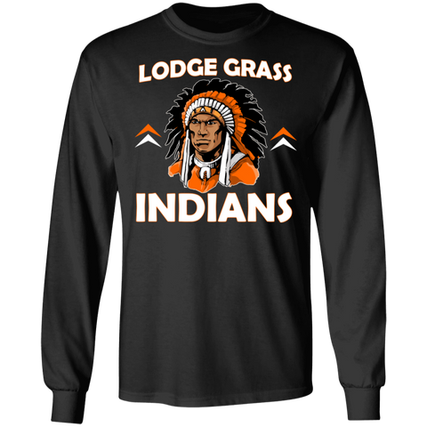 Lodge Grass Indians New Gildan LS Ultra Cotton T-Shirt