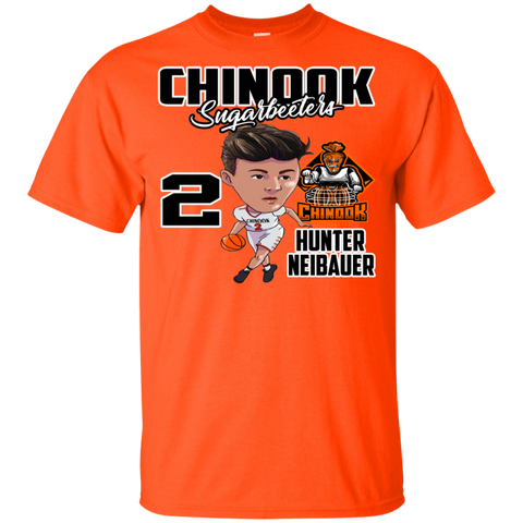 Chinook Sugarbeeters Hunter Neibauer New Orange Gildan Youth Ultra Cotton T-Shirt