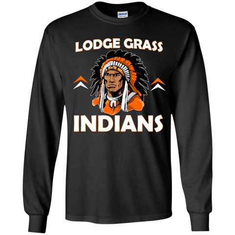 Lodge Grass Indians New Gildan Youth LS T-Shirt