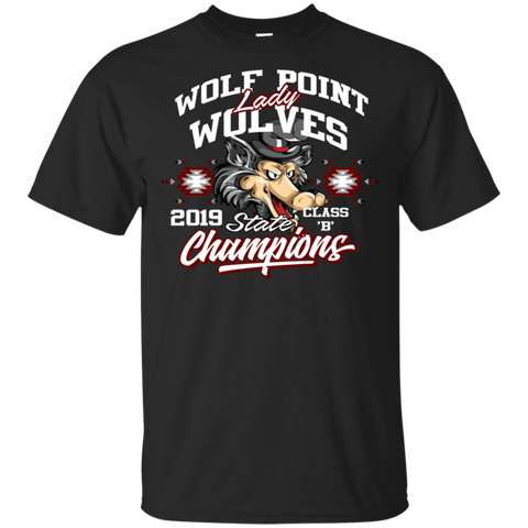Wolf Point Lady Wolves State Champions Gildan Ultra Cotton T-Shirt