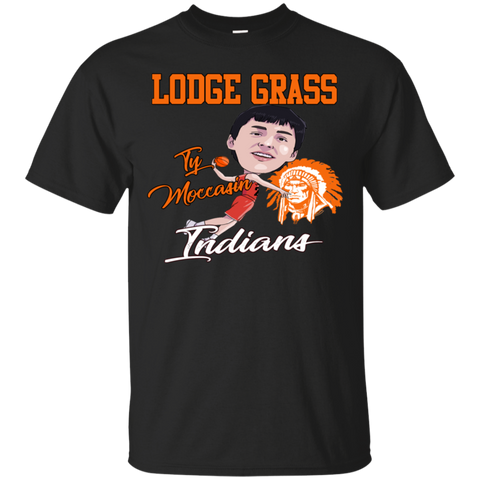 Lodge Grass Indians Ty Moccasin Gildan Ultra Cotton T-Shirt