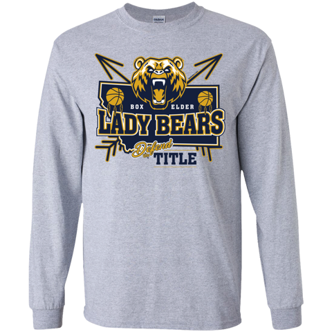 Box Elder Lady Bears Defend The Title Gildan Youth LS T-Shirt
