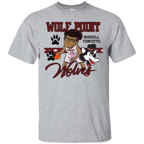Wolf Point Wolves Russell Turcotte Updated Gildan Ultra Cotton T-Shirt