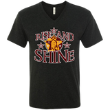 A3 - Rocky Boy Rise and Shine Next Level Men's Triblend V-Neck T-Shirt