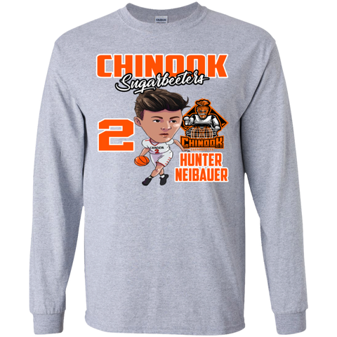 Chinook Sugarbeeters Hunter Neibauer New Gildan Youth LS T-Shirt