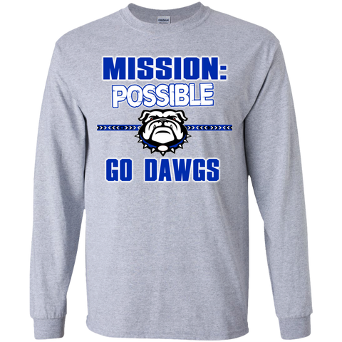 Mission Bulldogs Gildan Youth LS T-Shirt