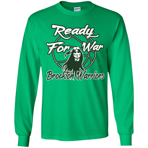 Brockton Warriors Ready For War Gildan Youth LS T-Shirt
