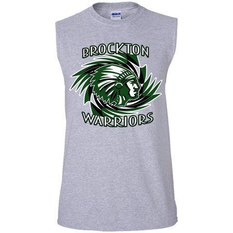 Brockton Warriors Gildan Men's Ultra Cotton Sleeveless T-Shirt