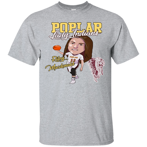 Poplar Lady Indians Riley Macdonald Gildan Ultra Cotton T-Shirt