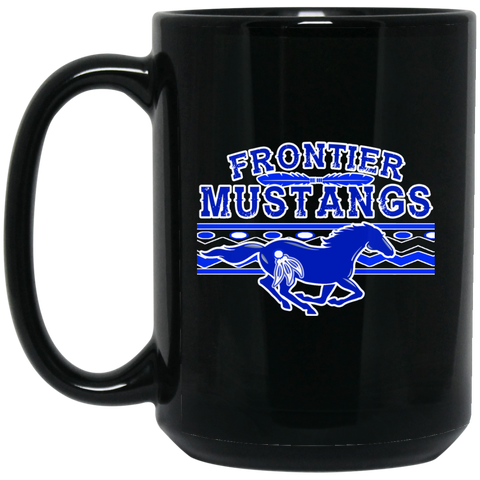 Frontier Mustangs 15 oz. Black Mug