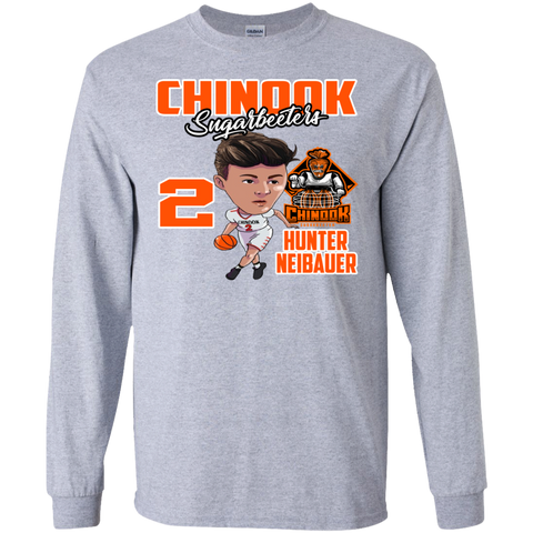 Chinook Sugarbeeters Hunter Neibauer New Gildan LS Ultra Cotton T-Shirt
