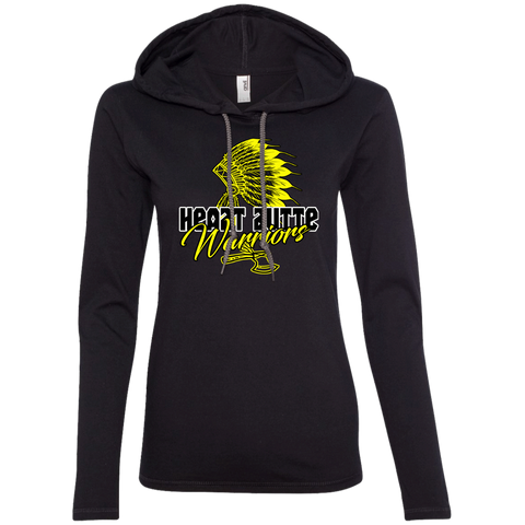 Heart Butte Warriors Anvil Ladies' LS T-Shirt Hoodie