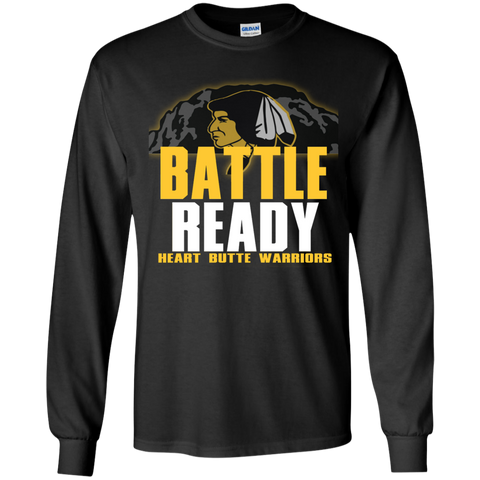 Heart Butte Warriors Battle Ready Gildan Youth LS T-Shirt