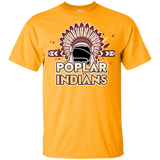 Poplar Indians New Gildan Youth Ultra Cotton T-Shirt