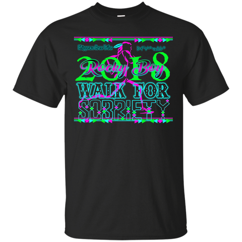 2018 Rocky Boy Sobriety Walk Gildan Ultra Cotton T-Shirt