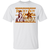 Rocky Boy Stars Respect Blue Gildan Ultra Cotton T-Shirt