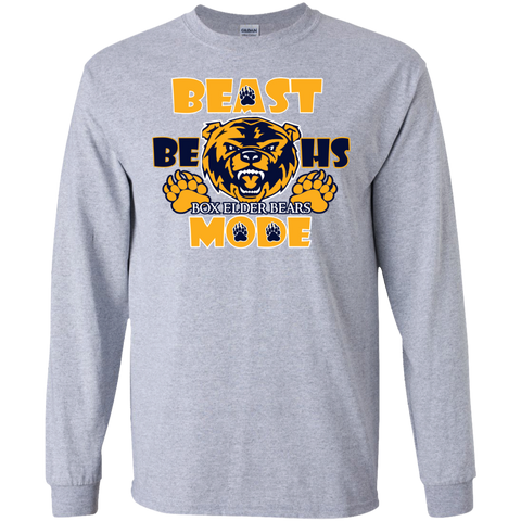 A1-Box Elder Bears Beast Mode Gildan LS Ultra Cotton T-Shirt