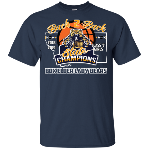 Box Elder Lady Bears Back to Back State Champs w/Roster Gildan Youth Ultra Cotton T-Shirt