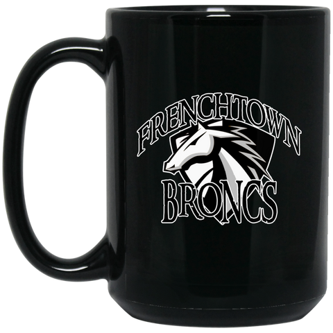 Frenchtown Broncs 15 oz. Black Mug