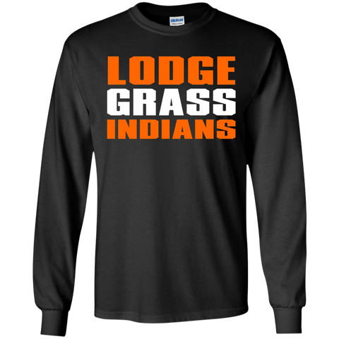Lodge Grass Indians Gildan LS Ultra Cotton T-Shirt
