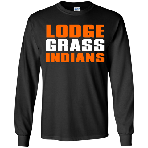 Lodge Grass Indians Gildan Youth LS T-Shirt