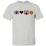 I Love Wildcat Basketball Gildan Youth Ultra Cotton T-Shirt