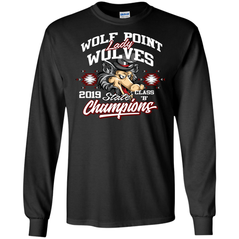 Wolf Point Lady Wolves State Champions Gildan LS Ultra Cotton T-Shirt