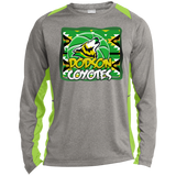 Dodson Coyotes Sport-Tek LS Heather Colorblock Poly T-Shirt