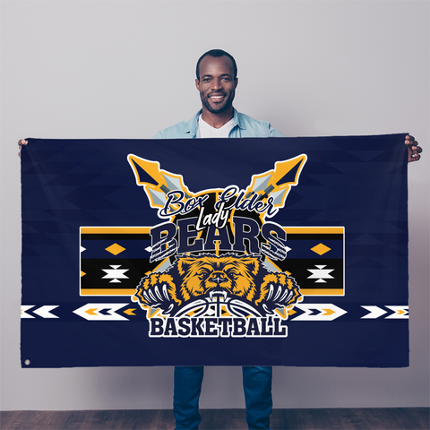 Box Elder Bears Battle Shirt Sublimation Flag