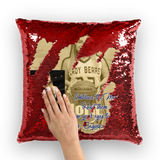 Senior Talyssa Horn Sequin Cushion Cover