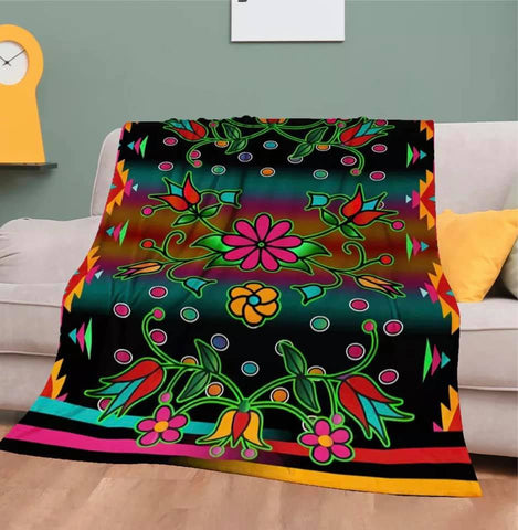 Native Design Floral Blanket
