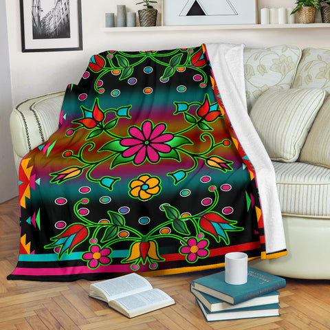 Native American Floral Blankets