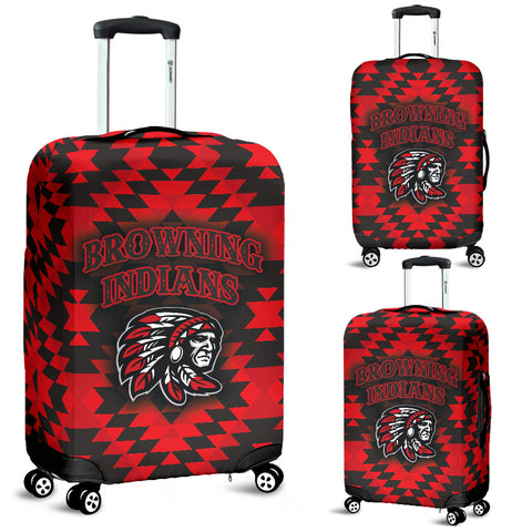 Browning Indians Luggage Covers Black/Red