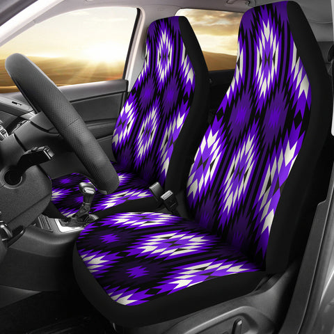 Native Design Car Seat Covers Purple