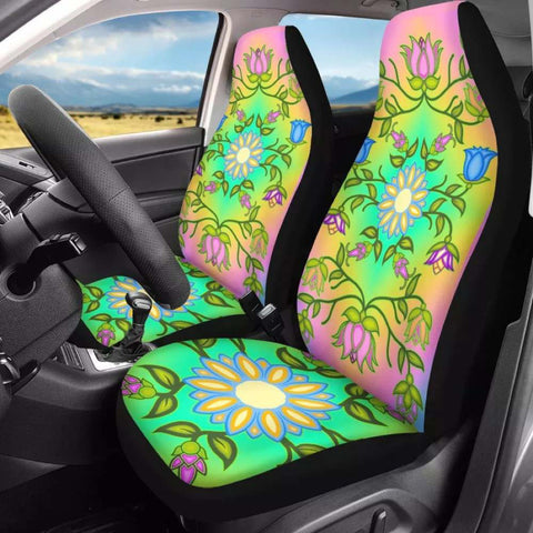 Native Pastel Floral Print Car Seat covers