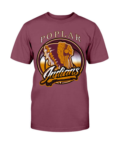 Poplar Indians New Gildan Ultra Cotton T-Shirt
