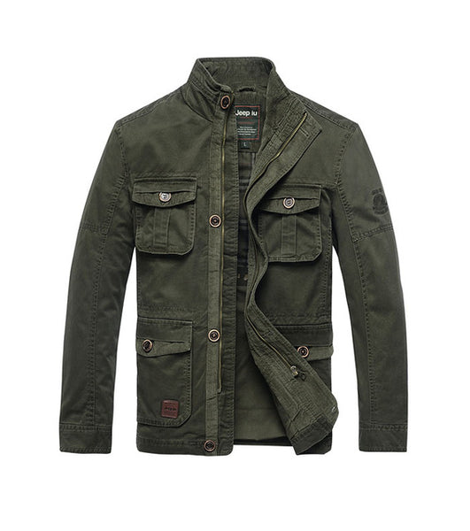 AFS JEEP Male Jacket Men Jackets Coat Windbreaker Jacket Trench Coat Stand Collar Casual Autumn