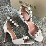 Women Pumps Sexy High Heels Sandals Buckle Strap Shoes Peep Toe High Heels Wedding Shoes