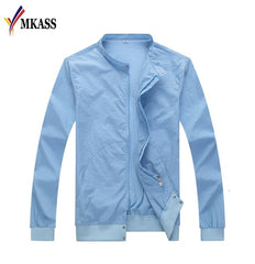 Sun Protection Clothing Windbreaker Summer Thin Men Jackets Slim Fit Mens Coats