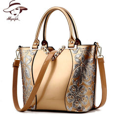 Luxury Sequin Embroidery Women Bag Patent Leather Handbag Diamond Shoulder Messenger Bags