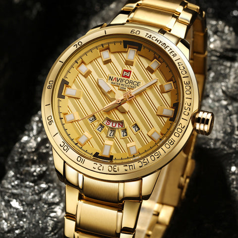 NAVIFORCE LUXURY Golden Watch