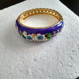 Flower Enamel Bangles Bracelet Women Jewelry Party Banquet Ethnic Bangles Retro Jewelry