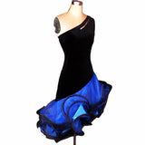 Women/Kids Latin Dance Dress Adult/Children Custom Size Organza Sleeveless Stage Performance Salsa Dress