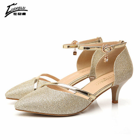 Sexy Shoes Women High Heel Gold Silver Pumps Luxury Rhinestones Wedding Party Shoes