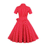 Sexy Summer Dress Retro Vintage Audrey Hepburn Short Sleeve Casual Office Dress Plus Size