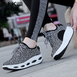 Women Trainers Shoes Platform Creepers Casual Platform Tennis Feminine Black Shoes